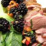 duck with blackberry relish