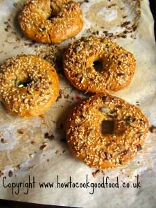 multiseed whole white bagels