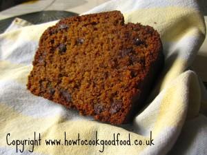 spiced pumpkin rum choc chip loaf