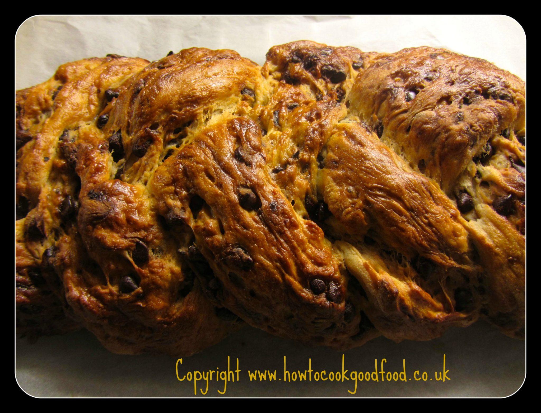 A Dark Chocolate & Prune Plaited Loaf