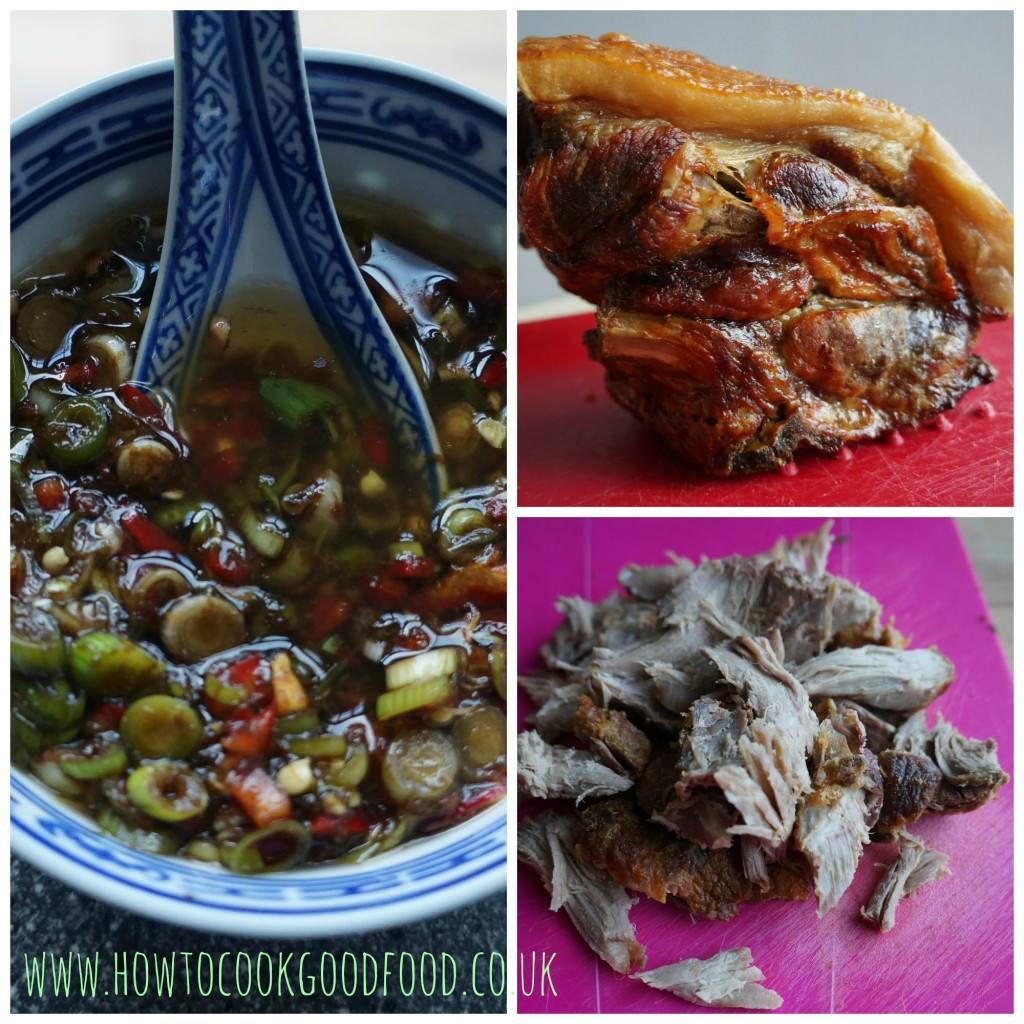 pork & aubergine noodle salad