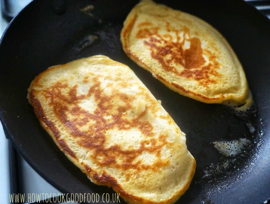 american style banana pancakes