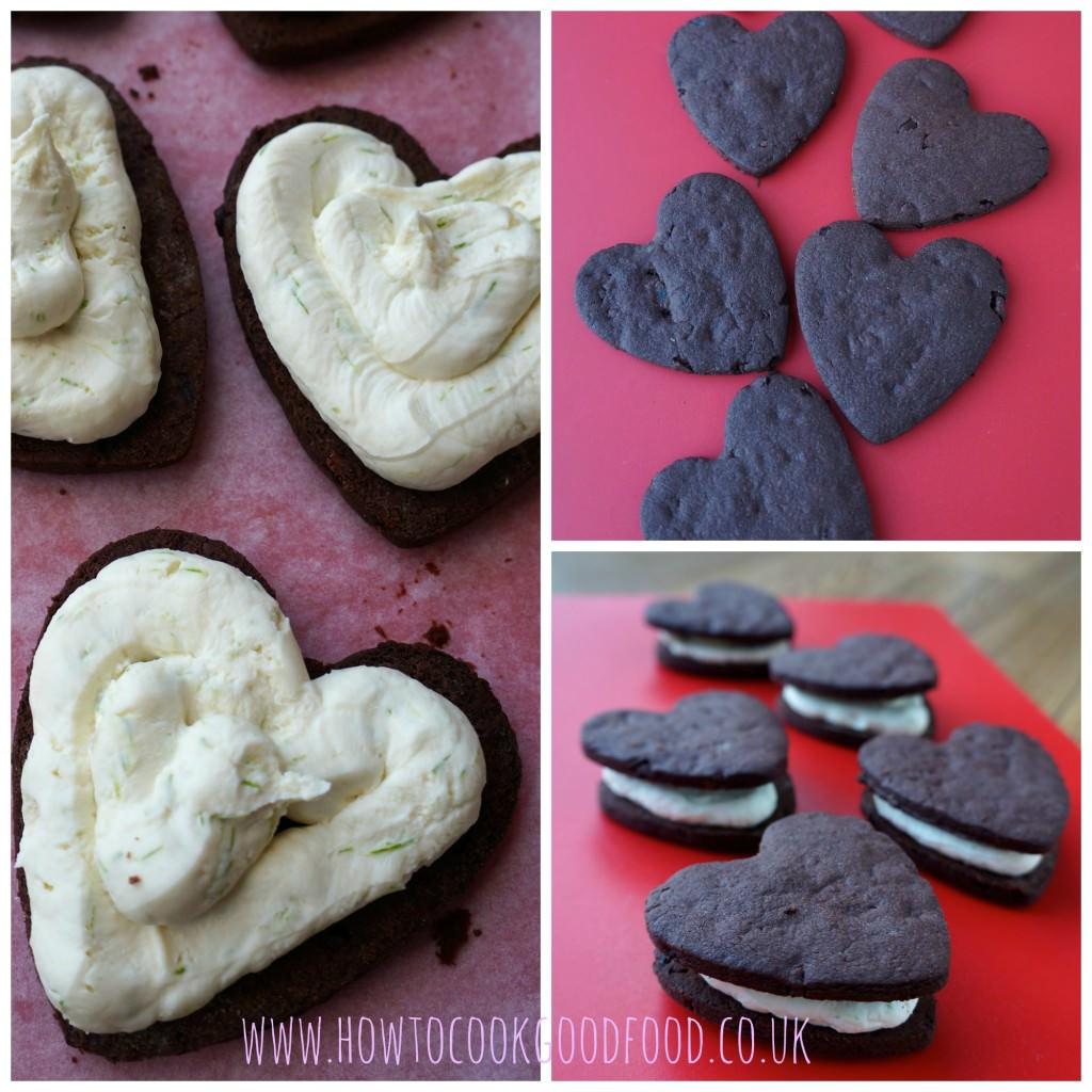 cacao nib heart cookies