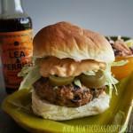 spicy pork burger