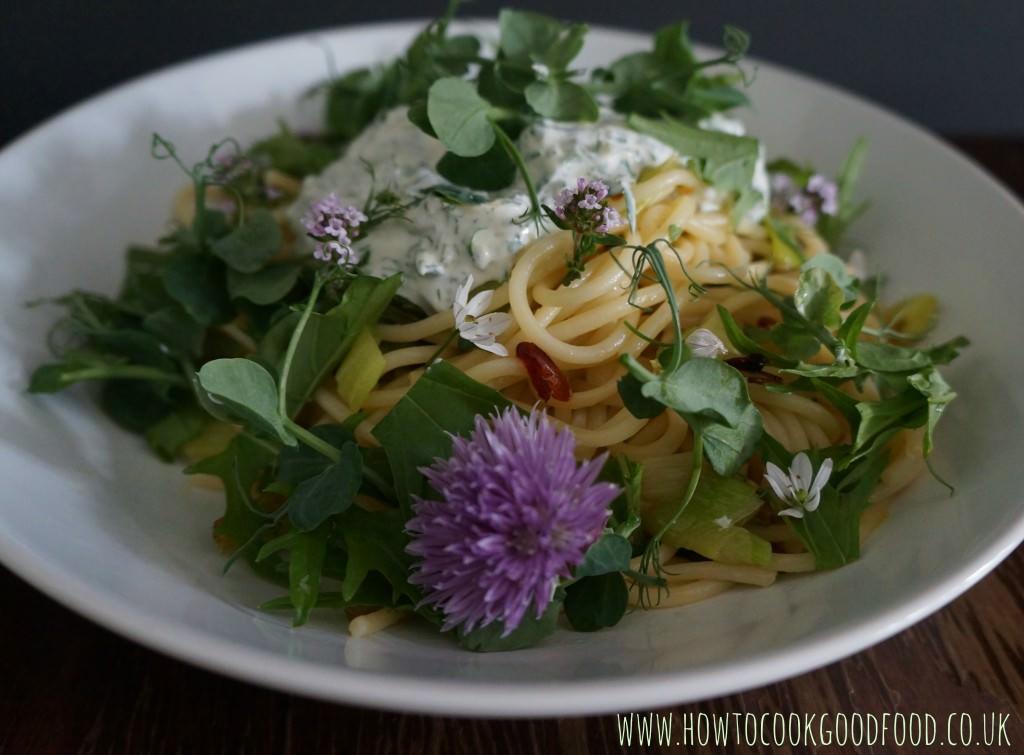 spaghetti with fresh herbs