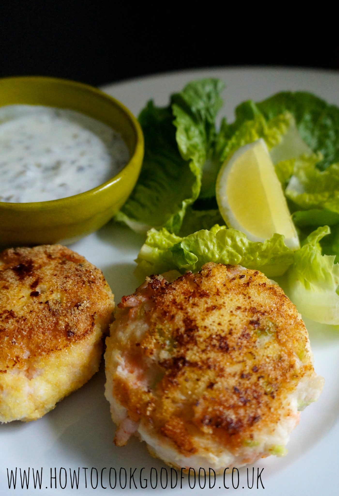 polenta crusted luxury fishcakes
