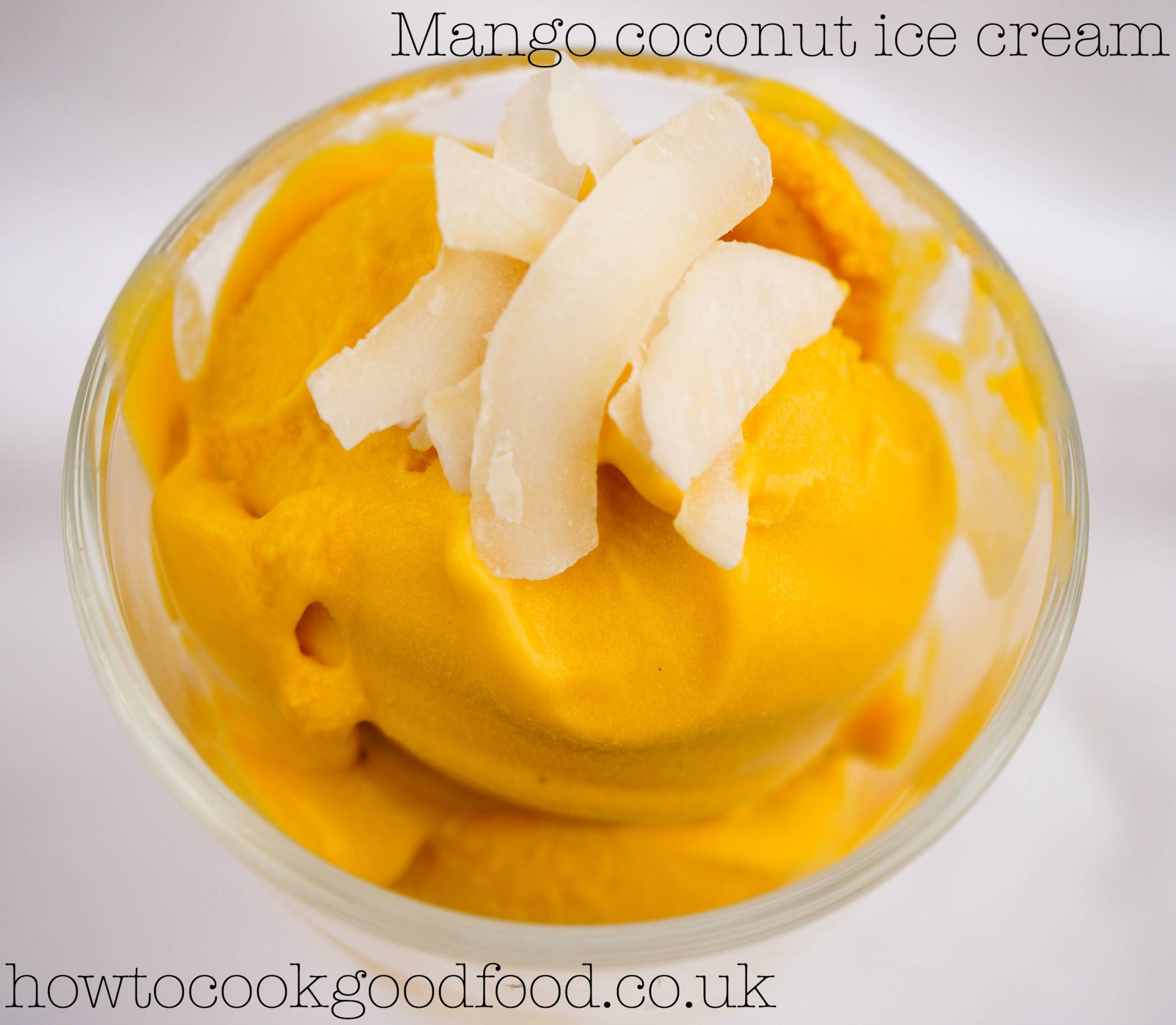 vegan mango and coconut ice cream