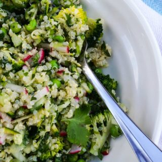 spring green quinoa salad