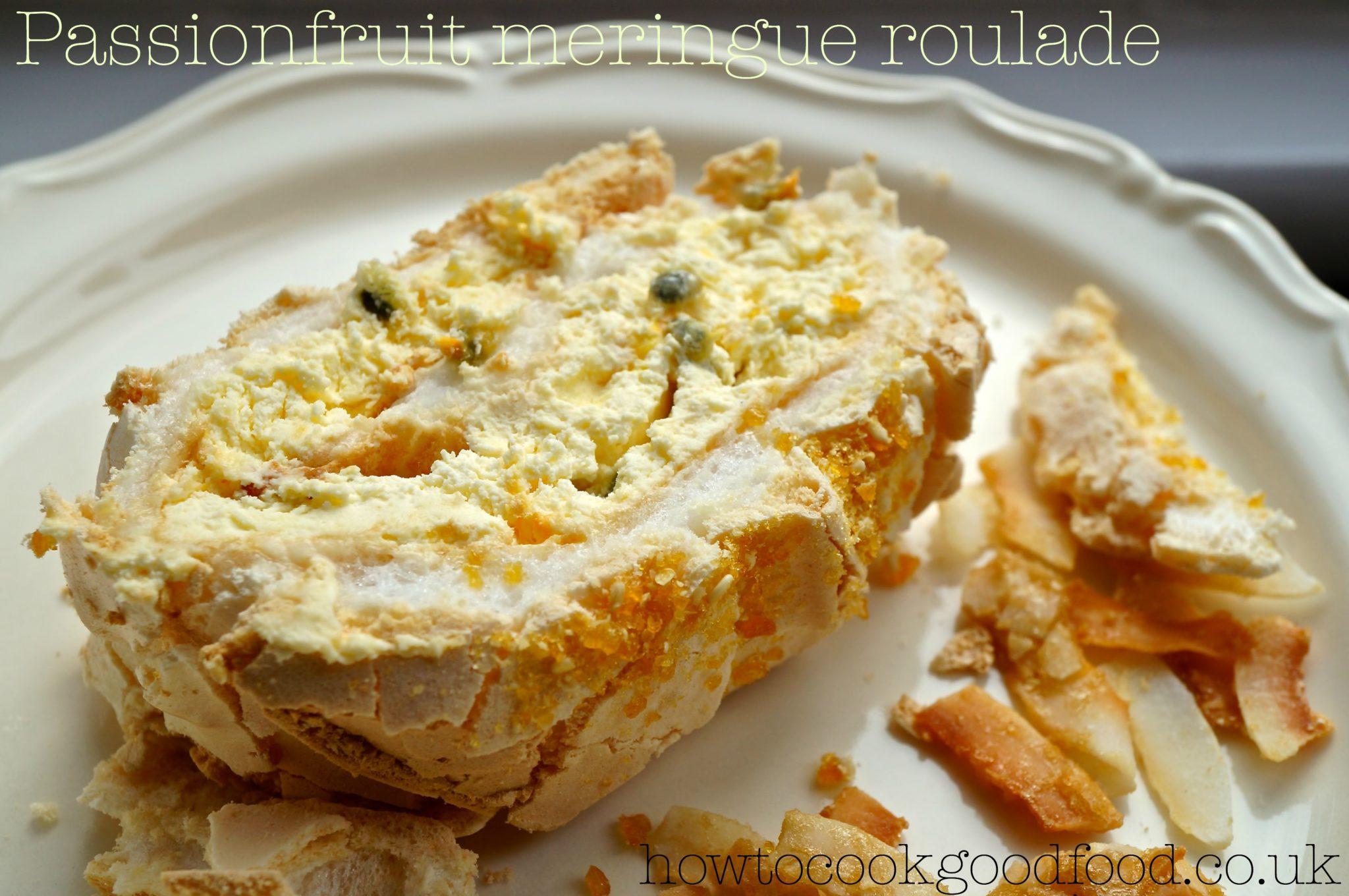 pics Passion Fruit and Mango Meringue Roulade Recipe