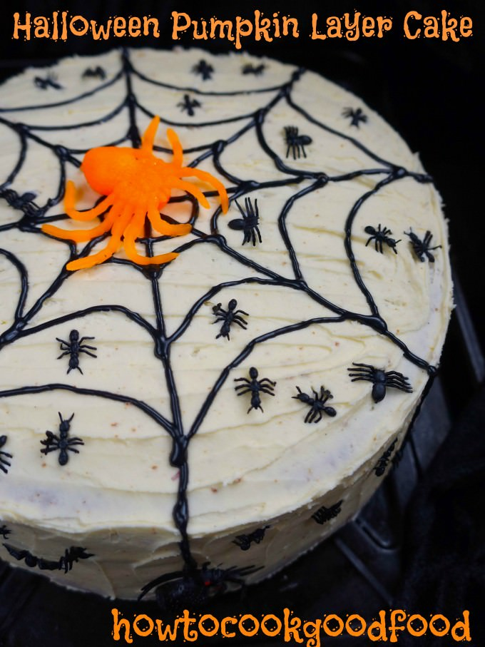 halloween pumpkin layer cake