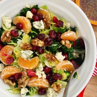 Raw Sprout Clementine Cranberry Stilton & Walnut Winter Salad
