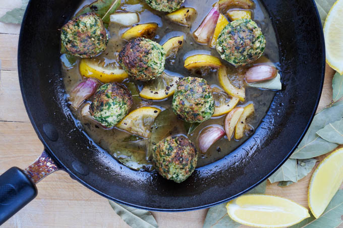vegan supergreen meatballs