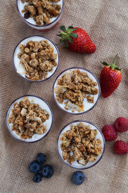 organic breakfast parfaits