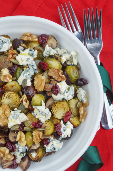 brussel sprout mushroom blue cheese