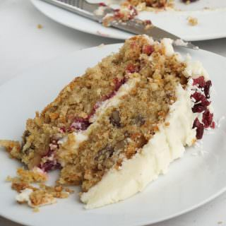 Carrot Cranberry & Orange Christmas Cake