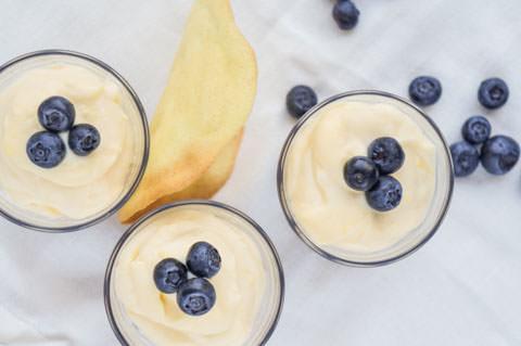 lemon syllabub and tuile