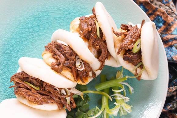 Korean style bao buns