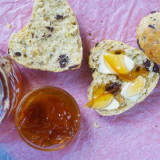 Valentine Breakfast Scones