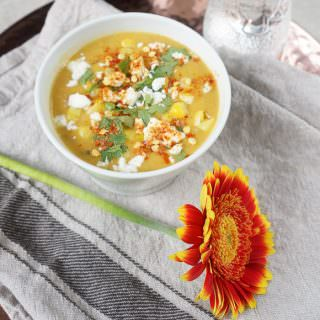 spiced sweetcorn soup