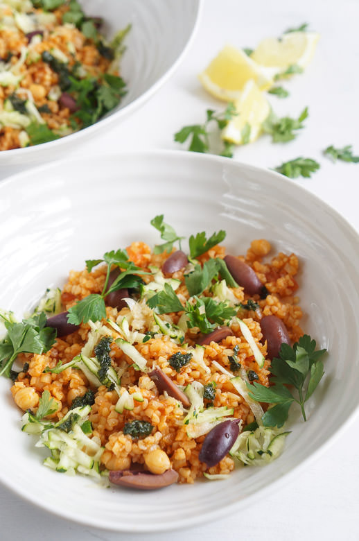 tomato bulgar salad bowl