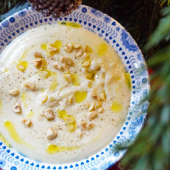 truffled parsnip soup